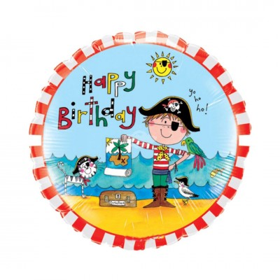 Folienballon | Kinder Boy Geburtstag Birthday Pirate - Pirat | Heliumballon